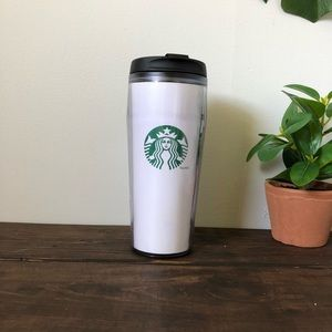 Starbucks 16oz Insulated Tumbler White Siren Logo